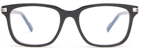 Cartier Eyewear - C De D-frame Acetate Glasses - Mens - Black