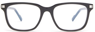 Cartier C De D-frame Acetate Glasses - Black