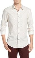 Ben Sherman Men's Extra Slim Fit Herringbone Spot Woven Shirt