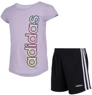 adidas Toddler Girls Tee and Short Set