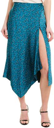 Jonathan Simkhai Handkerchief Silk-Blend Skirt