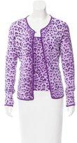 Moschino Leopard Print Crochet-Trimmed Cardigan Set