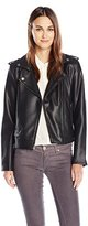 Lucky Brand Women's Faux Leather Bonded Moto Jacket