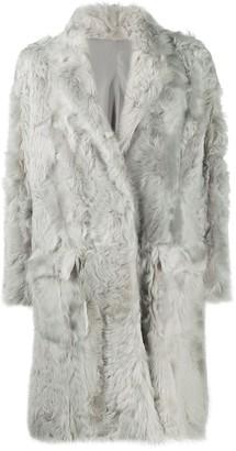 Liska Lamb Fur Cocoon Coat