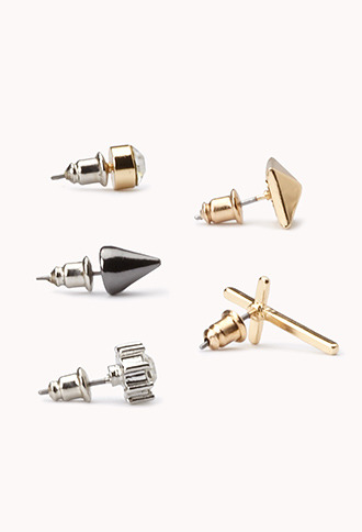 Forever 21 Edgy Stud Set