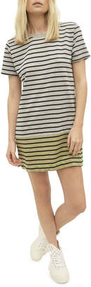 Current/Elliott The Mixed Up Striped Tee Dress