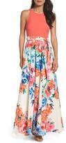 Eliza J Women's Crepe Maxi Dress