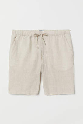 H&M Relaxed Fit Linen-blend Shorts - White