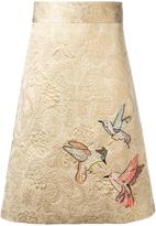 RED Valentino embroidered brocade skirt - women - Silk/Cotton/Acrylic/other fibers - 40