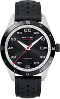 Montblanc Men's Swiss Timewalker Date Automatic Black Rubber Strap Watch 41mm