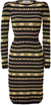 Valentino Black-Multi Knit Pencil Dress
