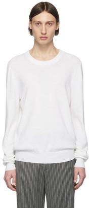 Maison Margiela White Elbow Patch Sweater