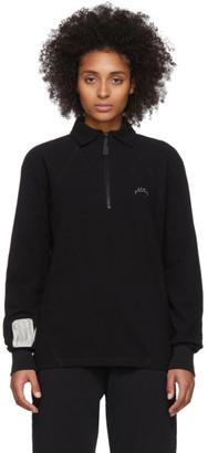 A-Cold-Wall* Black Zip Long Sleeve Polo