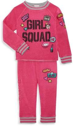 Butter Shoes Little Girl's Girl Squad 2-Piece Sweatshirt & Jogging Pants Set