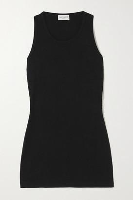 Saint Laurent Cotton-jersey Tank - Black