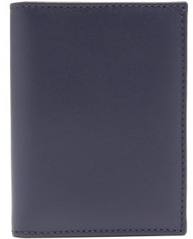 Comme des Garcons Bi-fold Leather Wallet - Navy