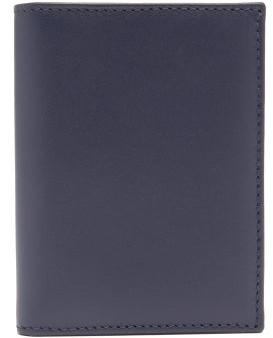 Comme des Garcons Bi-fold Leather Wallet - Womens - Navy