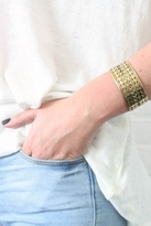 Jens Pirate Booty Tribal Cuff in Gold