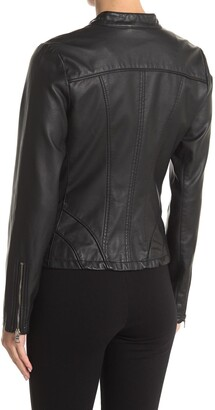 GUESS Faux Leather Racer Jacket