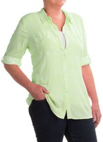 FDJ French Dressing Paintly Striped Tunic Blouse - Viscose, 3/4 Sleeve (For Women)