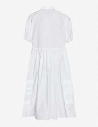 Cecilie Bahnsen Margo puffed-sleeve cotton midi shirt dress