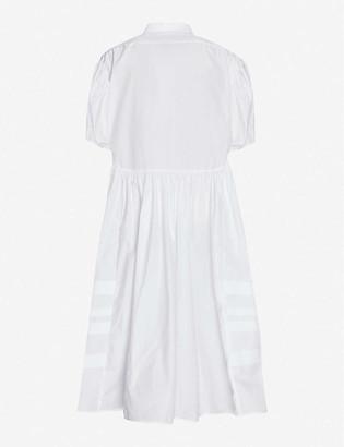 Cecilie Bahnsen Puffed-sleeve flared-skirt cotton midi shirt dress