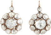 Olivia Collings Antique Jewelry Diamond Cluster Earrings