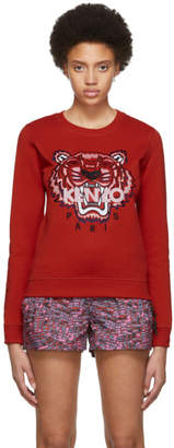 Kenzo Red Limited Edition Embroidered Tiger Sweatshirt