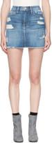 Frame Blue Denim le Mini Miniskirt