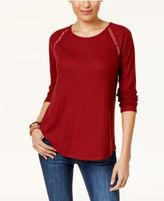 Style&Co. Style & Co Crochet-Trim Thermal Tunic, Created for Macy's