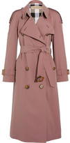 Burberry The Haughton Cotton-gabardine Trench Coat - Antique rose