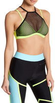 Lovers + Friends Mesh Overlay Sports Bra