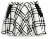 Kate Spade Girl's Plaid Wool Blend Skirt