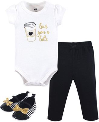 Hudson Baby Girls' Infant Bodysuits Latte - White & Black 'Love You a Latte' Bodysuit Set - Newborn & Infant