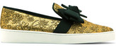 Michael Kors Val Bow-Embellished Jacquard Sneakers