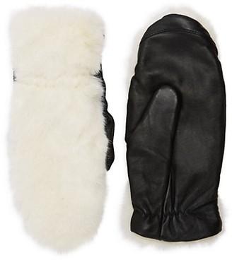 RENVY Faux Fur Leather Gloves