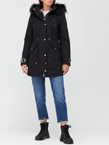 Thumbnail for your product : Very Glam Parka With Buckle Sleeve Detail - Black