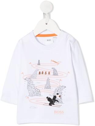Boss Kidswear ski print T-shirt