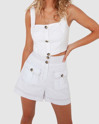 Madison The Label - Women's White High-Waisted - Vienna Shorts - Size One Size, 6 at The Iconic