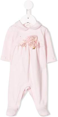 Miss Blumarine rose applique baby romper