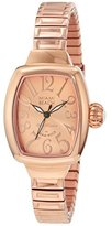 Glam Rock Women's MBD27092 Miami Beach Art Deco Rose Gold Tone Dial Rose Gold Ion-Plated Stainless Steel Watch
