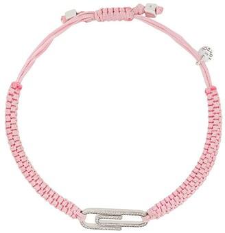 Tateossian Paper Clip pave bracelet