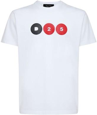 DSQUARED2 D25 Print Cotton Jersey T-Shirt