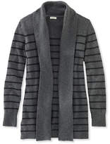 L.L. Bean Women's Classic Cashmere Sweater, Open Cardigan Stripe