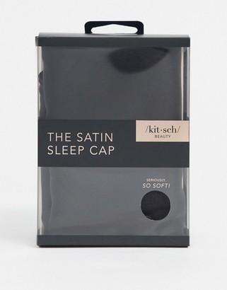 Kitsch Satin Sleep Cap - Black-No color