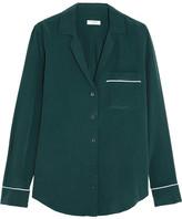Equipment Keira Washed-silk Pajama Shirt - Green