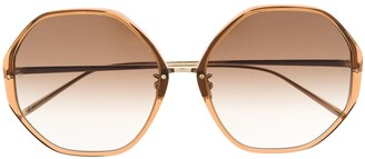 Linda Farrow Alona geometric-frame sunglasses