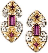 Konstantino Artemis Rhodolite Double-Heart Drop Earrings