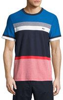 Lacoste Honeycomb Jersey Colorblock T-Shirt, Blue/Multicolor