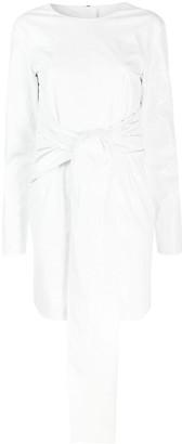 MSGM Wrap Belted Mini Dress